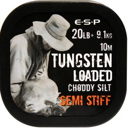 Поводковый материал E-S-P TUNGSTEN LOADED - SEMI STIFF - Choddy Silt / 20lb / 10m